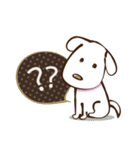 白いぬデザイン☆ゆる敬語(個別スタンプ:3)