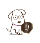 白いぬデザイン☆ゆる敬語(個別スタンプ:16)
