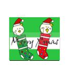 P~吉 冬の生活!クリスマス 新年の挨拶(個別スタンプ:02)
