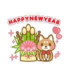 ☆2018年☆正月柴犬スタンプ(個別スタンプ:01)