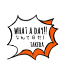 【TAKEDA】専用スタンプ(個別スタンプ:07)