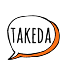 【TAKEDA】専用スタンプ(個別スタンプ:40)