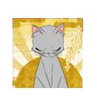 NEW YEAR 2018〜銀猫アルジャン(個別スタンプ:02)