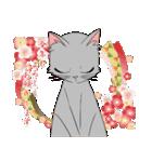 NEW YEAR 2018〜銀猫アルジャン(個別スタンプ:03)