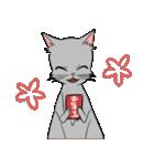 NEW YEAR 2018〜銀猫アルジャン(個別スタンプ:05)