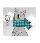 NEW YEAR 2018〜銀猫アルジャン(個別スタンプ:13)