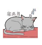 NEW YEAR 2018〜銀猫アルジャン(個別スタンプ:14)
