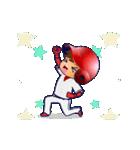 動く!野球チームと応援団9(個別スタンプ:4)