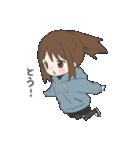 ぱーかーポニーテール女子(個別スタンプ:01)
