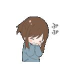 ぱーかーポニーテール女子(個別スタンプ:02)