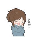 ぱーかーポニーテール女子(個別スタンプ:03)
