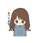 ぱーかーポニーテール女子(個別スタンプ:06)