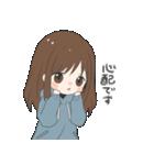 ぱーかーポニーテール女子(個別スタンプ:07)