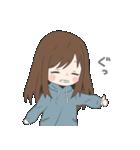 ぱーかーポニーテール女子(個別スタンプ:09)