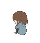 ぱーかーポニーテール女子(個別スタンプ:10)