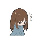 ぱーかーポニーテール女子(個別スタンプ:11)