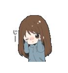 ぱーかーポニーテール女子(個別スタンプ:15)