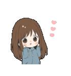 ぱーかーポニーテール女子(個別スタンプ:16)
