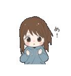 ぱーかーポニーテール女子(個別スタンプ:17)