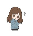 ぱーかーポニーテール女子(個別スタンプ:18)