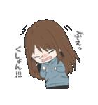 ぱーかーポニーテール女子(個別スタンプ:21)
