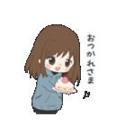 ぱーかーポニーテール女子(個別スタンプ:22)