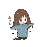 ぱーかーポニーテール女子(個別スタンプ:25)
