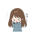 ぱーかーポニーテール女子(個別スタンプ:26)