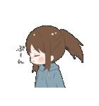 ぱーかーポニーテール女子(個別スタンプ:27)