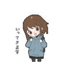 ぱーかーポニーテール女子(個別スタンプ:34)