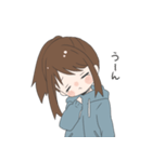 ぱーかーポニーテール女子(個別スタンプ:35)