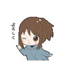ぱーかーポニーテール女子(個別スタンプ:36)