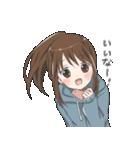 ぱーかーポニーテール女子(個別スタンプ:39)