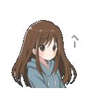 ぱーかーポニーテール女子(個別スタンプ:40)