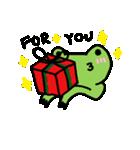 カエル君のクリスマス(個別スタンプ:3)