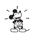 ミッキーマウス(モノクロ)(個別スタンプ:03)