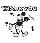 ミッキーマウス(モノクロ)(個別スタンプ:05)