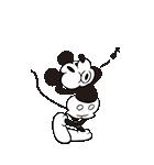 ミッキーマウス(モノクロ)(個別スタンプ:10)