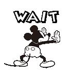 ミッキーマウス(モノクロ)(個別スタンプ:18)