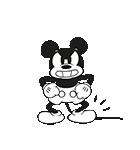 ミッキーマウス(モノクロ)(個別スタンプ:22)