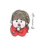 愛しのシャイガール(個別スタンプ:18)