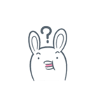 よくつかう ぶさいくウサギ(個別スタンプ:20)