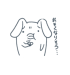 よくつかう ぶさいくウサギ(個別スタンプ:36)