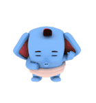 Scary but cute baby elephant(個別スタンプ:01)
