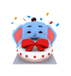 Scary but cute baby elephant(個別スタンプ:08)