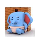 Scary but cute baby elephant(個別スタンプ:19)
