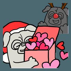 パグのようなもの クリスマス~お正月
