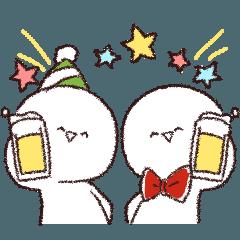 [LINEスタンプ] 【動く!】かおもじさん5