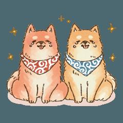 [LINEスタンプ] 可愛い柴犬の日常スタンプ2 (1)