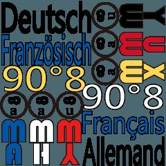 90°8 ドイツ語。フランス語
